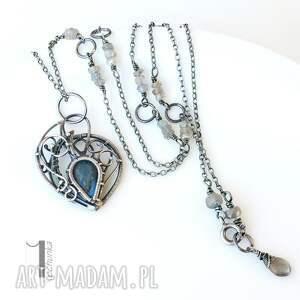 miechunka Blue Bird - srebrny naszyjnik z labradorytami