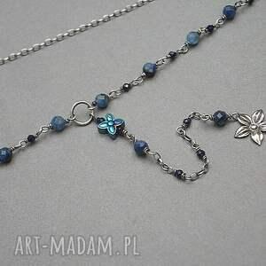 kyanit naszyjniki blue flower - naszyjnik