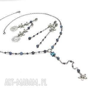 niebieskie naszyjniki srebro naszyjnik wykonany ze srebra [pr. 925]