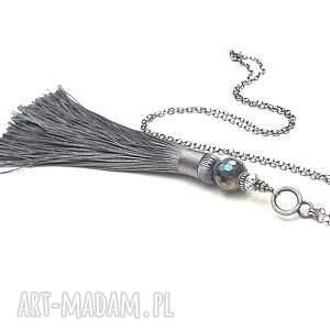 handmade naszyjniki srebro boho /grey/ vol. 2