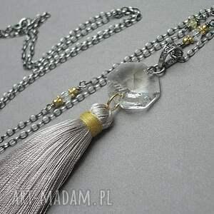 srebro naszyjniki boho /grey/ - naszyjnik