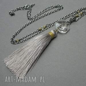 naszyjniki srebro boho /grey/ - naszyjnik