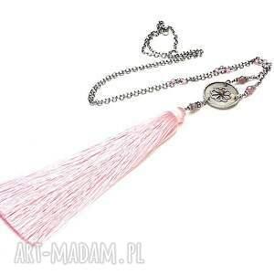 Boho maxi /pink/ - naszyjnik - rubin