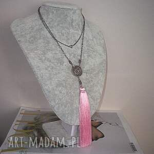 chwost boho maxi /pink/
