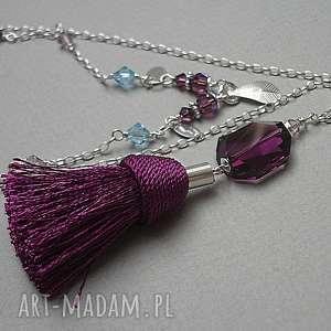 oryginalne naszyjniki swarovski boho - purple naszyjnik