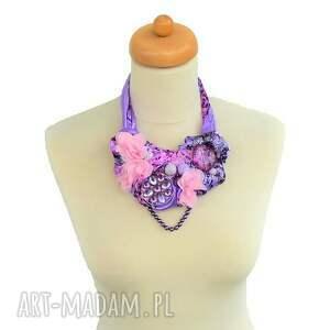 różowe naszyjniki naszyjnik bossanova handmade