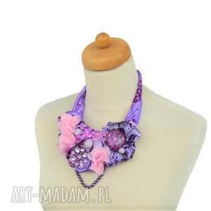 różowy naszyjniki bossanova naszyjnik handmade