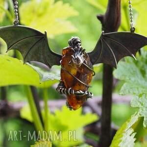 fantasy naszyjniki bursztynowy smok