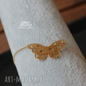 naszyjniki zawieszka butterfly in gold
