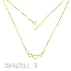 wyjątkowe naszyjniki serce celebrate - hearts necklace g