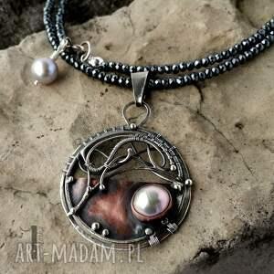 szare naszyjniki 925 chandrama - srebrny naszyjnik