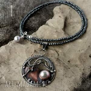 wyraziste naszyjniki srebro chandrama - srebrny naszyjnik