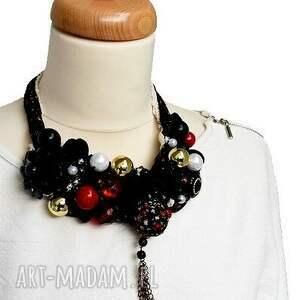 czarne naszyjnik china doll handmade