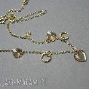 swarovski naszyjniki choker /golden heart/ 31 -01 -19/