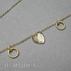 naszyjniki swarovski choker /golden heart/ 31 -01 -19/