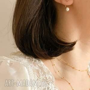 ręcznie wykonane naszyjniki kulki choker z różowego złota