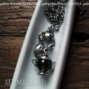 wyjątkowe naszyjniki srebro coffee time naszyjnik z kwarcu