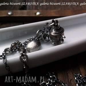 ręcznie wykonane srebro coffee time naszyjnik z kwarcu
