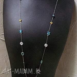 niepowtarzalne naszyjniki hematyty colours mix boho /hematite /