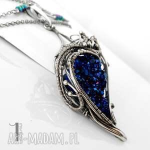 niebieskie naszyjniki naszyjnik constellatio ii srebrny
