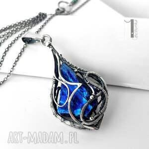 wirewrapping naszyjniki niebieskie constellatio iv srebrny naszyjnik