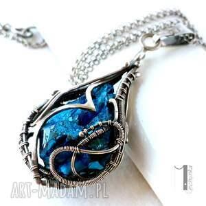 srebro naszyjniki niebieskie constellatio - srebrny naszyjnik