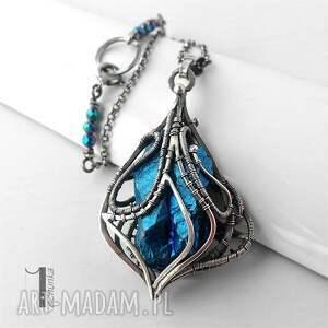 naszyjnik naszyjniki niebieskie constellatio v srebrny