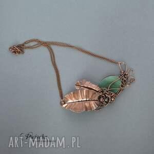 brązowe naszyjniki naszyjnik creation necklace -