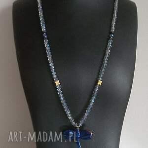 naszyjniki ważka crystal dragonfly /cobalt/ /alloys