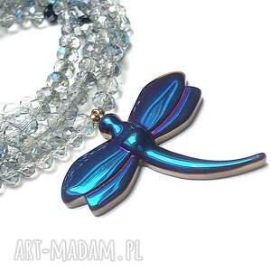 niebieskie naszyjniki szlachetna crystal dragonfly /cobalt/ /alloys