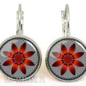oryginalne naszyjniki medalion czerwony kwiat -