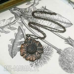naszyjnik kwiat naszyjniki daisy - z prawdziwym