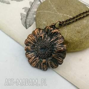 naszyjniki naszyjnik kwiat daisy - z prawdziwym