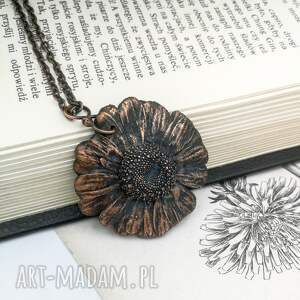 handmade naszyjniki naszyjnik kwiat daisy - z prawdziwym