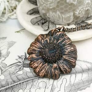 naszyjniki: Daisy - naszyjnik z prawdziwym kwiatem - elektro formowanie