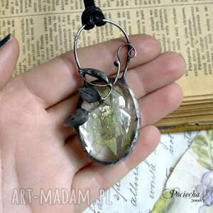handmade naszyjniki boho dandelion - naszyjnik z nasionami