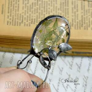naszyjnik naszyjniki beżowe dandelion - z nasionami
