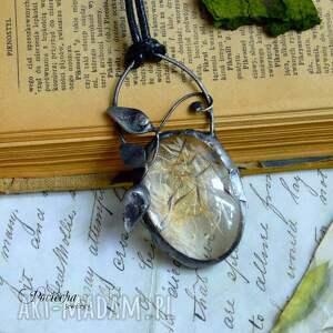 handmade naszyjniki naszyjnik dandelion - z nasionami