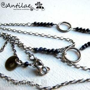 naszyjniki srebro circle - agat, chalcedon,