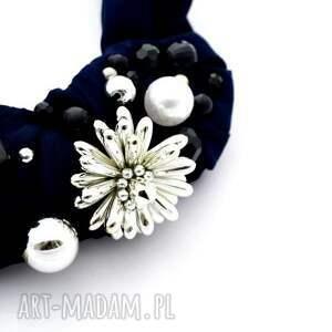 naszyjniki naszyjnik dark blue handmade