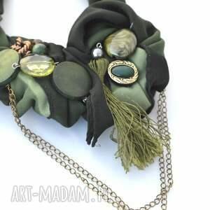naszyjniki naszyjnik dark green handmade
