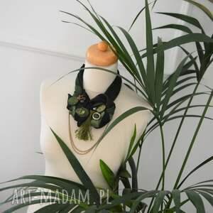 naszyjniki kolia dark green naszyjnik handmade
