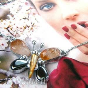 handmade naszyjniki delikatny naszyjnik z motylkiem