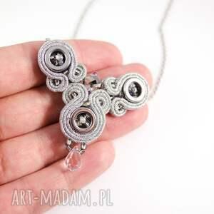 srebrne naszyjniki sutasz delikatny srebrzysty naszyjnik