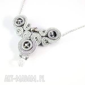 srebrny sutasz naszyjniki delikatny srebrzysty naszyjnik