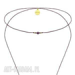 ręcznie wykonane naszyjniki naszyjnik długi fioletowy choker
