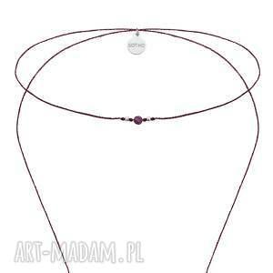 srebrne naszyjniki naszyjnik długi fioletowy choker
