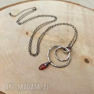 ręcznie wykonane naszyjniki długi naszyjnik - srebro