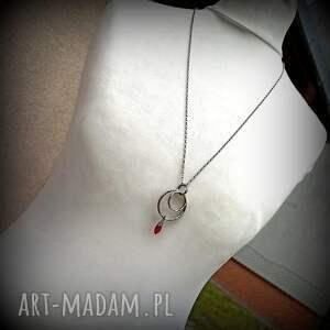 ręcznie wykonane naszyjniki srebro-naszyjnik długi naszyjnik - srebro