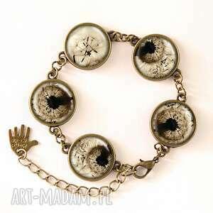 dmuchawiec naszyjniki czarne - medalion z łańcuszkiem